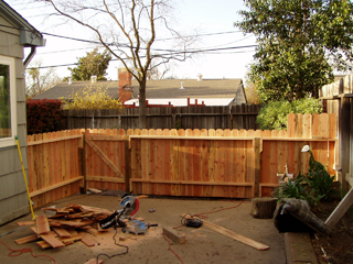 After repairing fence